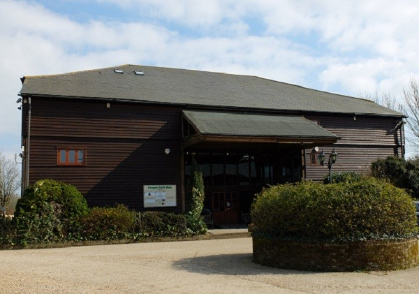 Park Barn Office – 427sqft (40m²). Extra space in eaves making total area 650sqft (60m²).